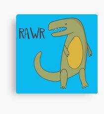 RAWR T-REX TYRANNOSAURUS REX CUTE DINOSAUR Canvas Print
