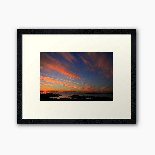 Sunset  Drumbeg viewpoint Framed Art Print