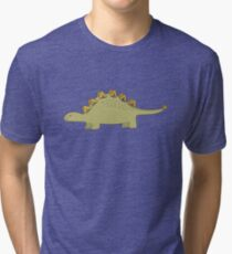 CUTE STEGOSAURUS (STEGOSAUR) DINOSAUR ILLUSTRATION Tri-blend T-Shirt