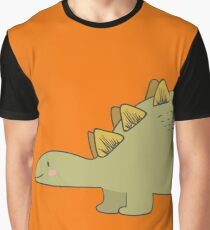 CUTE STEGOSAURUS (STEGOSAUR) DINOSAUR ILLUSTRATION Graphic T-Shirt