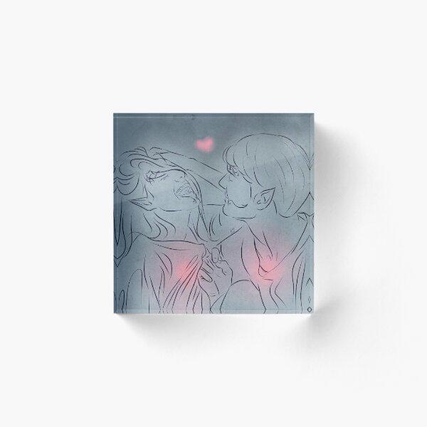 Hearts for Tam and Lana Acrylic Block