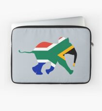 Baby Elephant in Colours of South African Flag Laptop Sleeve