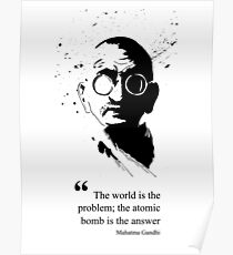 Zivilisation Gandhi Poster