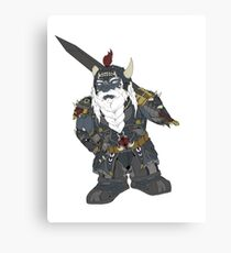 Fantasy dark dwarf design Canvas Print