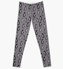 Penguins in grey Leggings