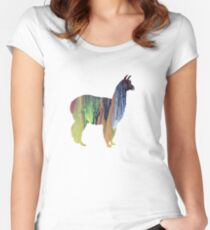 Alpaca Women's Fitted Scoop T-Shirt