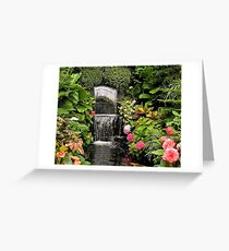 Butchart Waterfall Greeting Card