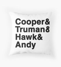 Twin Peaks Sheriff Department black Throw Pillow
