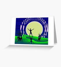 Greet the Moon Greeting Card