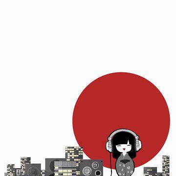 DJ Geisha by AbernathyGreen