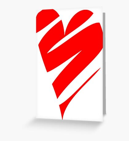 Stylized Heart Greeting Card