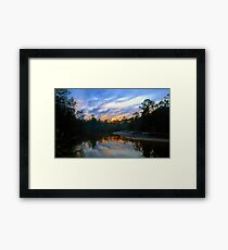"""Black Water River Sunset"" Framed Print"
