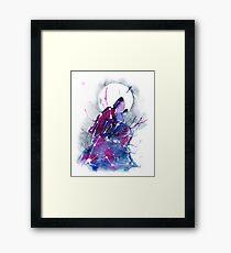 Galaxy Wolf Framed Print