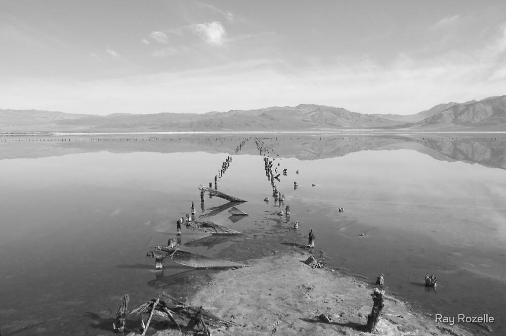 Saline Valley Salt Lake B&W by Ray Rozelle