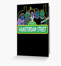 Hamsterdam Street Greeting Card