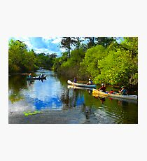 """""""Canoeing Friends"""" Photographic Print"""