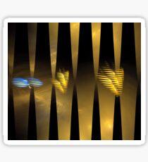 Golden Bar Stripes Sticker