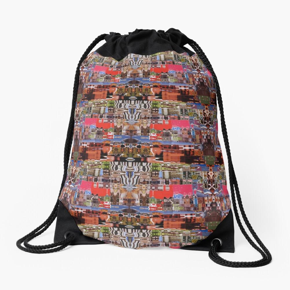 AFRICAN LOVE Drawstring Bag Front