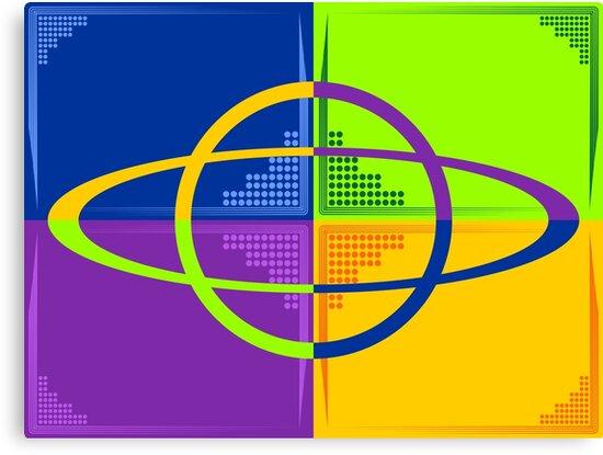 Saturn kaleidoscope by MegaSitioDesign