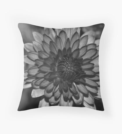 Charcoal Floral Throw Pillow