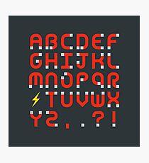 Magnet Alphabet Photographic Print
