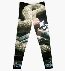 SnakeOneBlack Leggings