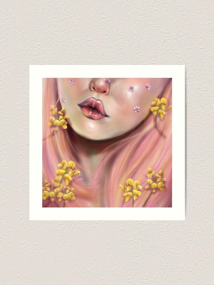 Alternate view of PinkHair Art Print