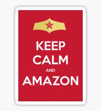 Keep Calm And Amazon Sticker