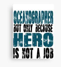 Oceanographer Hero Canvas Print