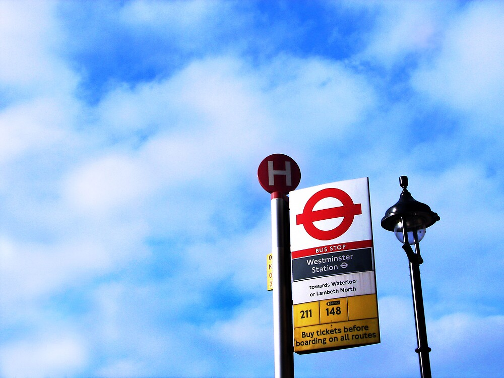The bus stop at Westminster by jessemyne