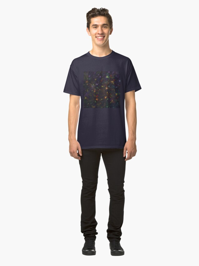 Alternate view of Cosmic fractals Classic T-Shirt