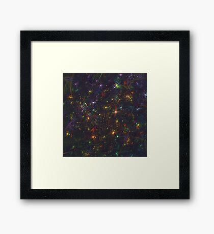 Cosmic fractals Framed Print