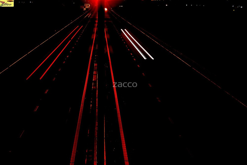 baglan's m4 port talbot @ night by zacco
