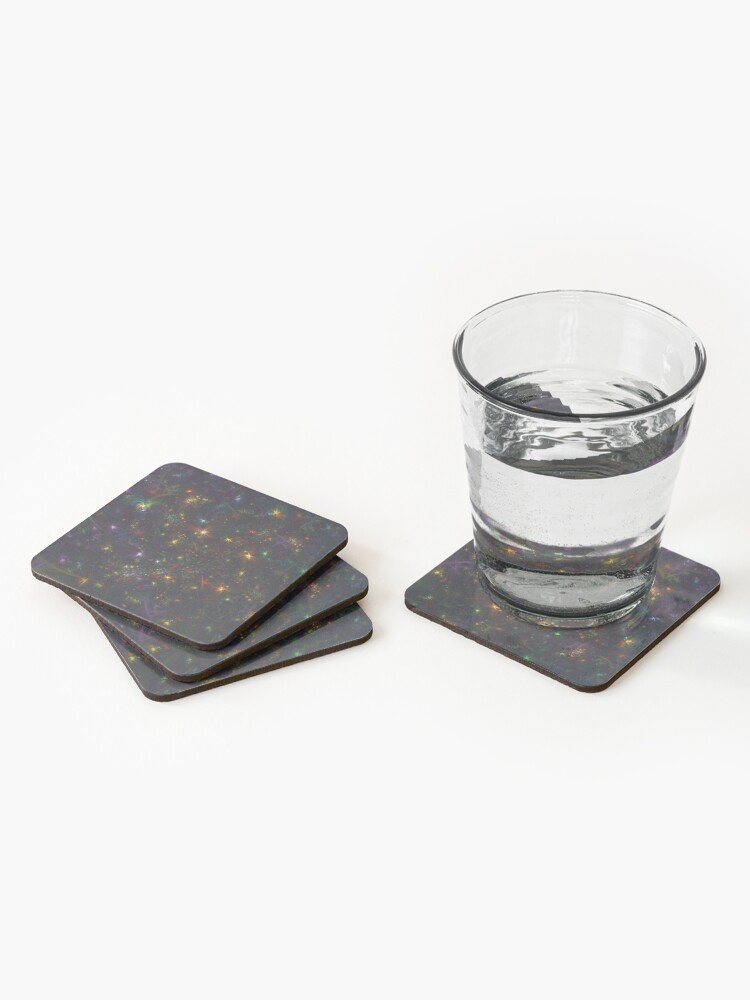Alternate view of Cosmic fractals Coasters (Set of 4)
