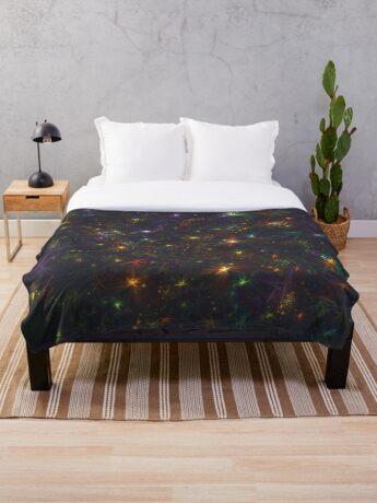 Cosmic fractals Throw Blanket
