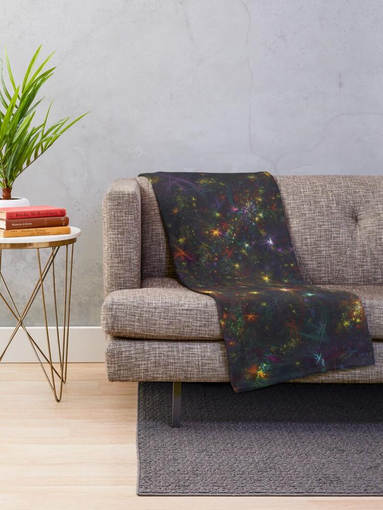 Alternate view of Cosmic fractals Throw Blanket
