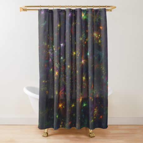Cosmic fractals Shower Curtain