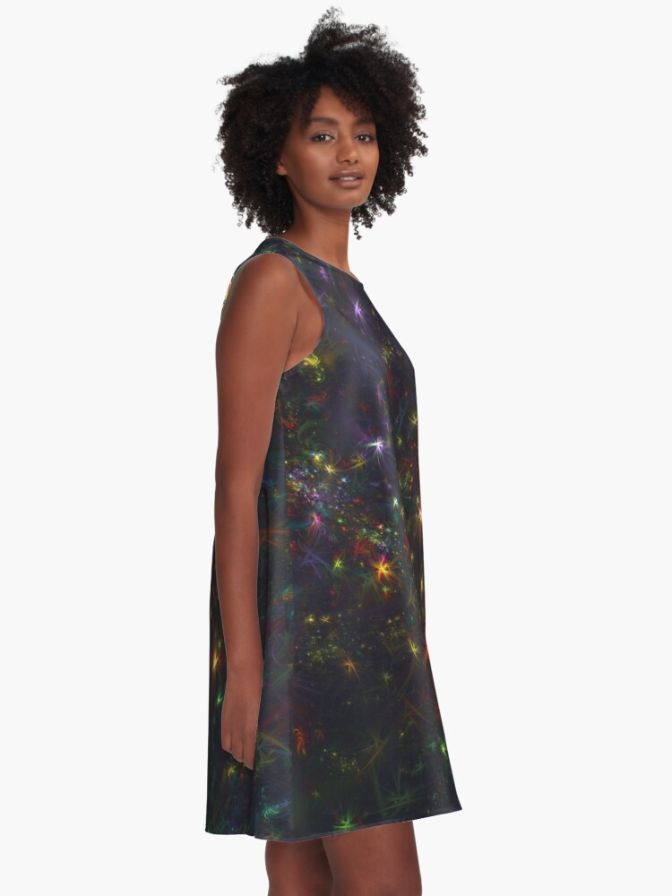 Alternate view of Cosmic fractals A-Line Dress