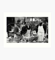 Fish stall, Rue Mouffetard, Paris Art Print