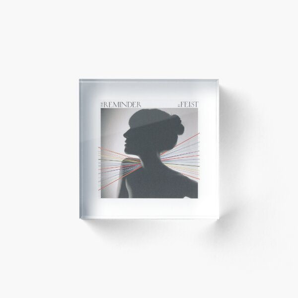 Feist Fan art sticker Reminder cd sleeve Acrylic Block