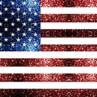 USA flag red blue sparkles glitters by PLdesign