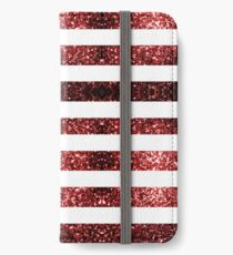 USA flag red blue sparkles glitters iPhone Wallet/Case/Skin