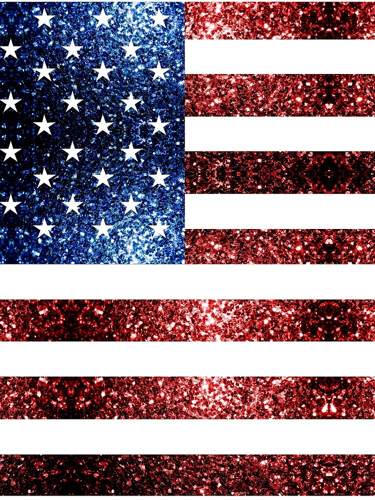 USA flag red blue faux sparkles glitters by PLdesign