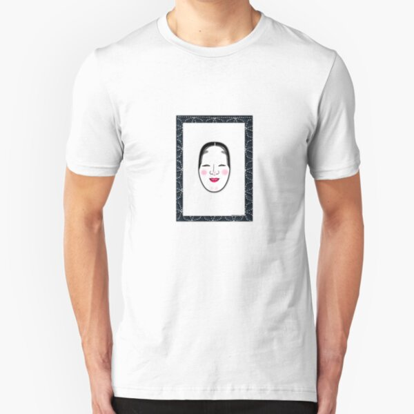 Noh Mask Slim Fit T-Shirt