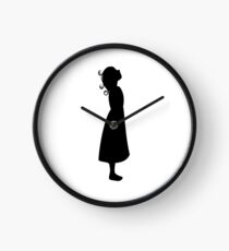 Girl Noir Clock