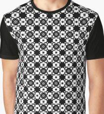 Black & White Graphic Pattern Graphic T-Shirt