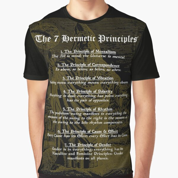The 7 Hermetic Principles Graphic T-Shirt