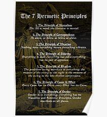 Die 7 hermetischen Prinzipien Poster