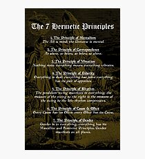 The 7 Hermetic Principles Photographic Print