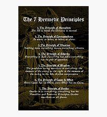 The 7 Hermetic Principles Photographic Print